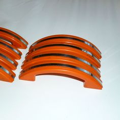 Bright Orange Drawer Pulls with White Polka by TheLittleNursery ...