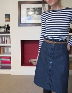 Flossie Teacakes: My version of the Colette Beignet skirt