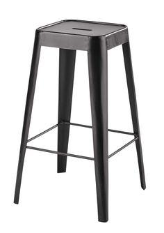Tabouret de bar en métal noir Tom