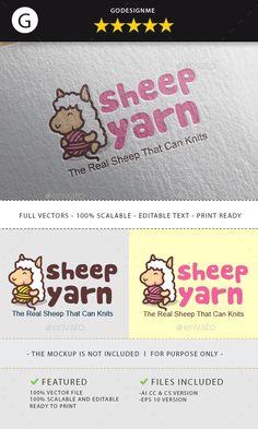 Sheep Yarn #Logo - Animals Logo Templates Download here: https://graphicriver.net/item/sheep-yarn-logo/19734241?ref=alena994