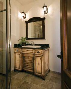 A simple and beautiful bathroom vanity.