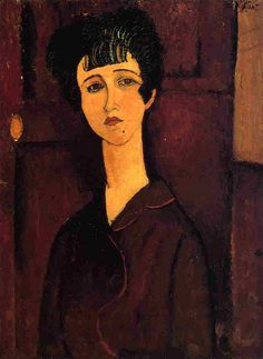 Amedeo Modigliani. Victoria, 1916. óleo sobre lienzo. Tate Gallery, Londres. WikiPaintings.org - the encyclopedia of painting