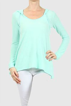 The most comfortable shirt you will ever own! Freeloader hooded French Terry top. Shop now at cinnaryn.com.
