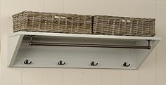 Coat Rack With Hat Shelf & Baskets