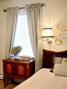 Follow these steps from HGTV.com to sew budget-friendly lined, full-length draperies for your bedroom.