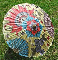 Delicate handpainted rice paper parasol floral by beccasboudoir