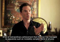 ben-hiddle-batch: watsonwarrior: Benedict Cumberbatch on Stephen Hawking (x)  Ben talking about stephen hawKING always makes me happy