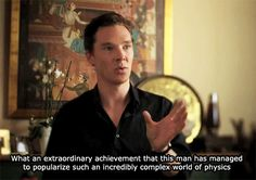 Benedict Cumberbatch on Stephen Hawking (x)