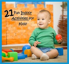 When the weather is lousy, take the fun indoors! 21 Fun Indoor Activities for Kids Indoor Activities For Kids, Craft Activities For Kids, Infant Activities, Educational Activities, Teaching Life Skills, Toddler Play, Cool Baby Stuff, Kid Stuff, Business For Kids