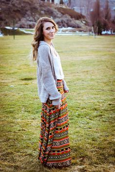 LuLaRoe boho skirt - maxi skirt in the winter