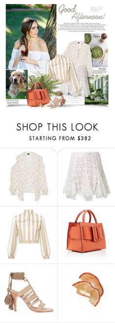"""Good Afternoon"" by thewondersoffashion ❤ liked on Polyvore featuring Prada, Peace and Love by Calao, Magda Butrym, macgraw, Fendi, Ulla Johnson and Alexis Bittar"