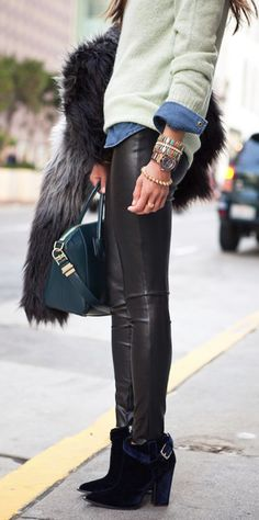 leather leggings. Get some at Necessary Clothing with promo code SCHOOLRULES1 http://necessaryclothing.com/