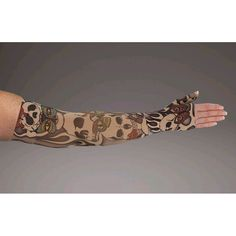1a3fa28afe LympheDivas Misfit Compression Armsleeve - Let your dark side out with this  skull patterned armsleeve. Dark skulls mix with colorful butterflies and  flames ...