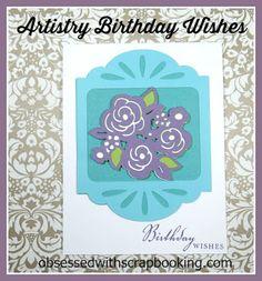 [Video]Artistry Cricut Birthday Purple Flower Card