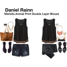 Mariella Animal Print Double Layer Blouse. This is so cute!