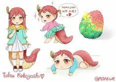 Anime Girlxgirl, Yuri Anime, Cute Anime Chibi, Anime Furry, Otaku Anime, Kawaii Anime, Kobayashi San Chi No Maid Dragon, Horror Movie Characters, Fictional Characters