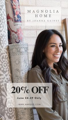 20% Off All Joanna Gaines Rugs! Magnolia Home Rugs, Magnolia Homes, Joanna Gaines Rugs, Magnolia Home Collection, Hgtv Shows, Queen, Farmhouse Chic, Beautiful Children, Modern Interior Design