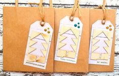 Christmas Packaging  Gift Bags with Handles  by thecardkiosk