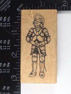 PSX E-1092 KNIGHT Rubber Stamp Medieval Fantasy Royal RARE HTF #274