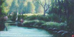 Adirondack Morning Light by Deborah Angilletta Oil ~ 8 x 16