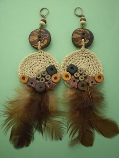 Bohemian Real Ostrich Feather Dangle Earrings for Women with Shell Beads Long Tassel Design Drop Earrings (Color) – Fine Jewelry & Collectibles Tatting Earrings, Feather Earrings, Women's Earrings, Crochet Earrings, Tribal Feather, Feather Design, Boho Jewelry, Jewelry Crafts, Beaded Jewelry