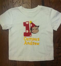 Curious George Birthday Shirt...Party Idea...Photo Prop