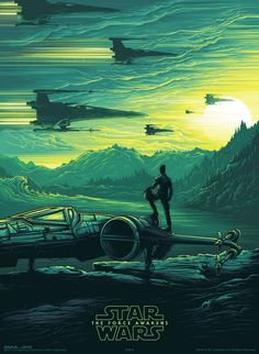Check Out This Illustrated Poe Poster for 'Star Wars: The Force Awakens' IMAX | I Watch Stuff