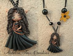 Arhikan Priestess of the moon polymer clay by Nakihra Fimo Creations, via Flickr