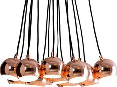 Austin Large Cluster Pendant, Copper from Made.com. Express delivery. Inspired by space-age interiors of the 60s and 70s, this cluster light is a st..
