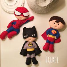 iyi geceler #keçe #felt #feltro #fieltro #keçemagnet #magnet #bebekşekeri #bebekmagnetleri #doğumhediyelikleri #batman #superman #spiderman #örümcekadam #süpermen #superhero #hero #iyigeceler #goodnight