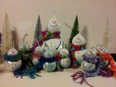 Snowmen gourds galore!