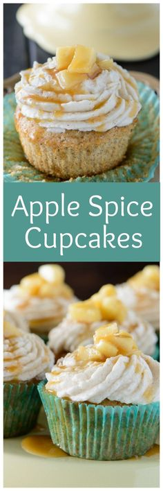 If you enjoy a classic apple spice cake then you are going to love these Apple Spice Cupcakes. These moist and flavorful cupcakes are made with a simple apple cider cake batter that is topped with a homemade cinnamon buttercream frosting.