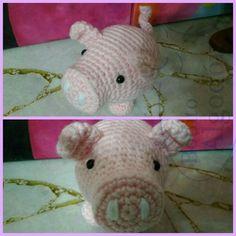 Hoy las agujas nos regalaron un cerdito #Oik #Oik #pig #amigurumi #BonitoAlgodon