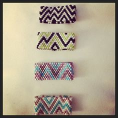 One of a kind rings! Custom colors! Love some summer chevron! Accessorize! Check it out @ www.etsy.com/shop/claireelizabethdsign  $25.00/ring