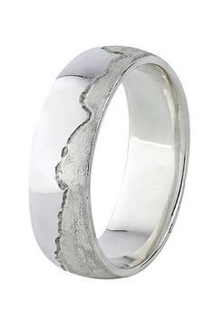 The Coolest Wedding Bands From Etsy  #refinery29  http://www.refinery29.com/etsy-wedding-bands#slide-20  A rugged band for the outdoorsy type.