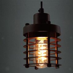 E27 Retro Industrial Black Iron Lampshade Pendant Light Lamp for Home/Inn #Unbranded #Country