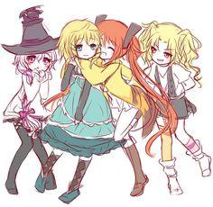 black bullet: midori, Tina, enju and yuzuki