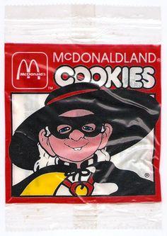 1984 McDonald's McDonaldland Cookies Wrapper Hamburglar