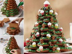 3D Cookie Christmas Tree Recipe With Video Tutorial | The WHOot