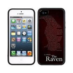 Edgar Allan Poe The Raven Handmade iPhone 5 5S Black Case ($4.84) ❤ liked on Polyvore featuring accessories and tech accessories