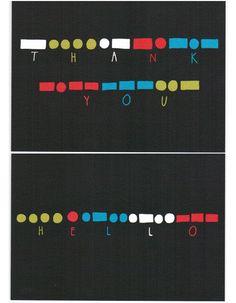 'Morse Code' Cards
