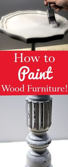 How to Paint Wood Furniture by Heather Tracy for The Graphics Fairy. This is a great basic DIY Tutorial for Painting, Distressing and Waxing Wooden Furniture! There are clear step by step instructions and lots of tips to make it easy, so that you can get a great custom look for the furnishings in your home.