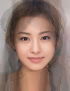 Average Japanese Actress' face