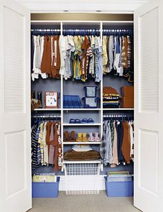 Love the idea of painting his closet inside
