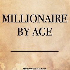 By what age are you going to become a #millionaire? It's a great question asked by @motivationmafia. Put your age in the comments below, I'd love to hear from you! And tag a friend to make yourself accountable! Here's to your first million!  #technology #marketing #digitalmarketing #socialmedia #socialmediamarketing #socialmediaexperts #sociallybold #friend #you #coffee