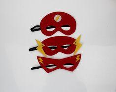 Flash Mask, SuperHero Mask, Children Mask, Felt Mask, Birthday Party