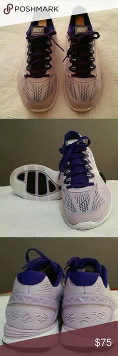 NIKE Lunarglide 5 Enhance your running experience with the Nike LunarGlide+ 5 women's running shoes. Super lightweight. Equipped with +Nike and fitsole technologies. Great condition! Nike Shoes Athletic Shoes