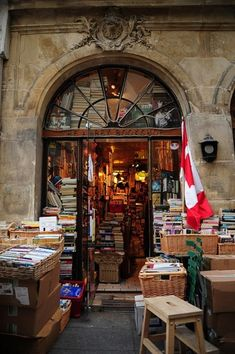"""MUST VISIT: The Abbey Bookshop, Paris, France  """"This mellow, Canadian-owned bookshop is known for its free tea and coffee (sweetened with maple syrup) sipped over new and secondhand books, fiction and non-fiction."""" -Lonely Planet"""