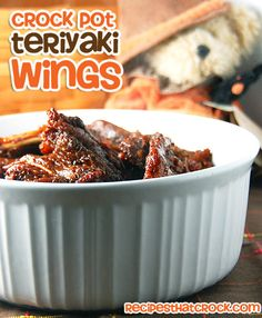 Crock Pot Teriyaki Wings - Recipes That Crock!