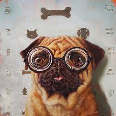 483ac2e78f image conscious - H1242D Canine Eye Exam by Lucia Heffernan Abstract Animal  Art